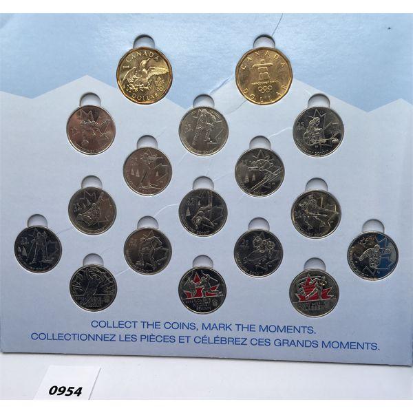2010 RCM SET - COLOURED OLYMPIC QUARTERS