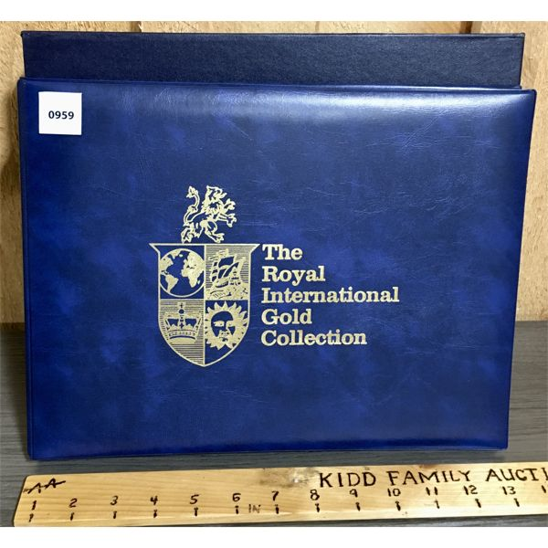 ROYAL INTERNATIONAL GOLD COLLECTION OF OFFICIAL FIRST DAY COVERS AND PROOF MEDALS