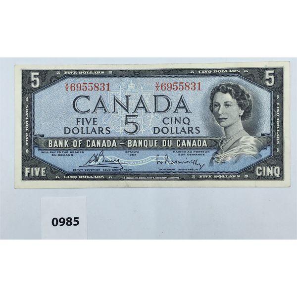 1954 BANK OF CANADA FIVE DOLLAR BILL