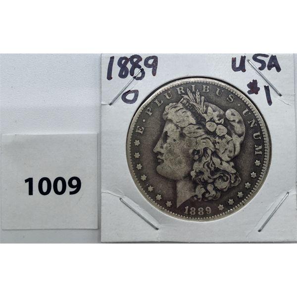 1889 O USA MORGAN SILVER DOLLAR