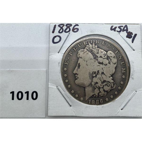 1886 O USA MORAGAN SILVER DOLLAR