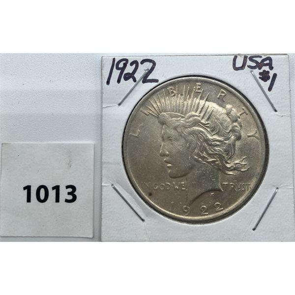 1922 USA MORGAN SILVER DOLLAR