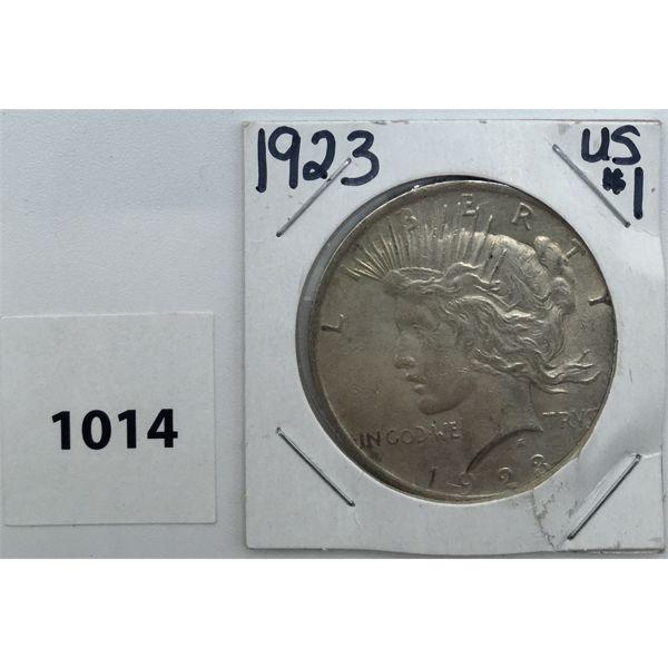 1923 USA MORGAN SILVER DOLLAR