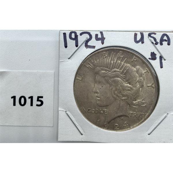 1924 USA MORGAN SILVER DOLLAR