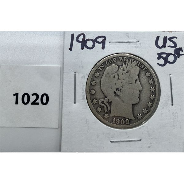 1909 US SILVER FIFTY CENT PIECE
