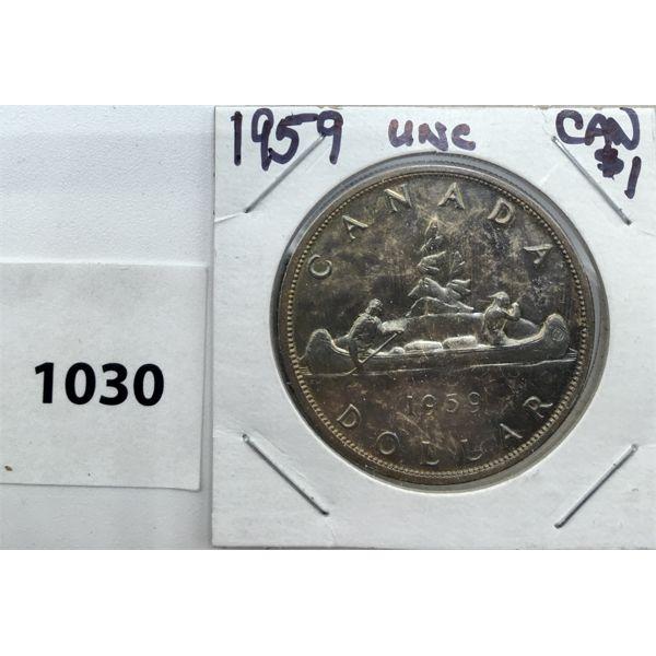 1959 UNCIRCULATED CDN SILVER DOLLAR