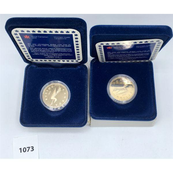 LOT OF 2 - CDN 1987 PROOF DOLLARS