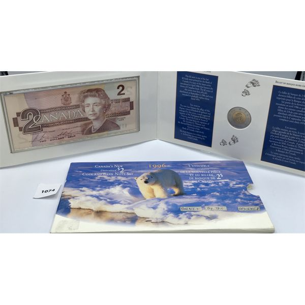 LOT OF 2 -1996 TWO DOLLAR COIN AND BANK NOTE SET AND 2017 COIN SET - SEE ALL PICS