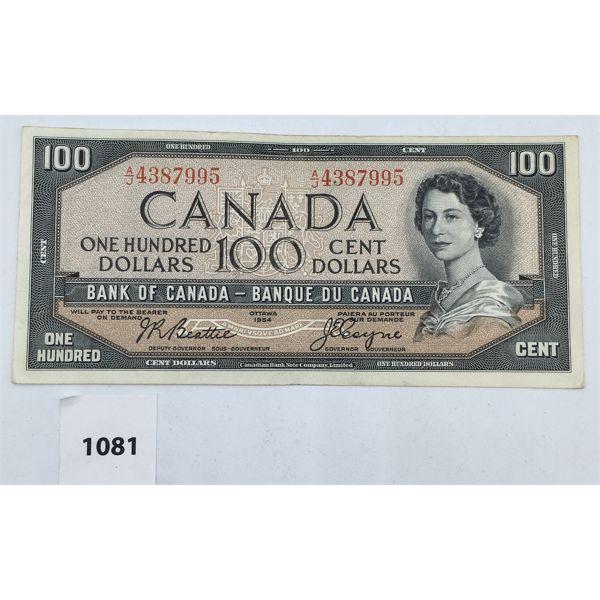 1954 CANADIAN 100 DOLLAR BILL