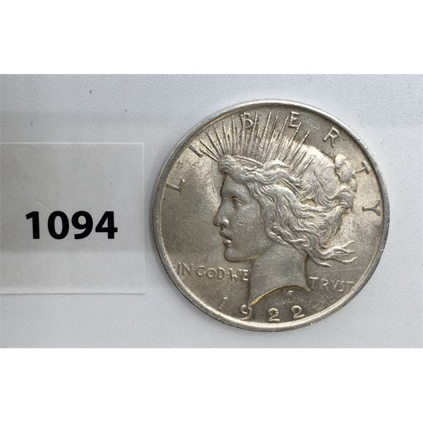 UNITED STATES SILVER DOLLAR - 1922
