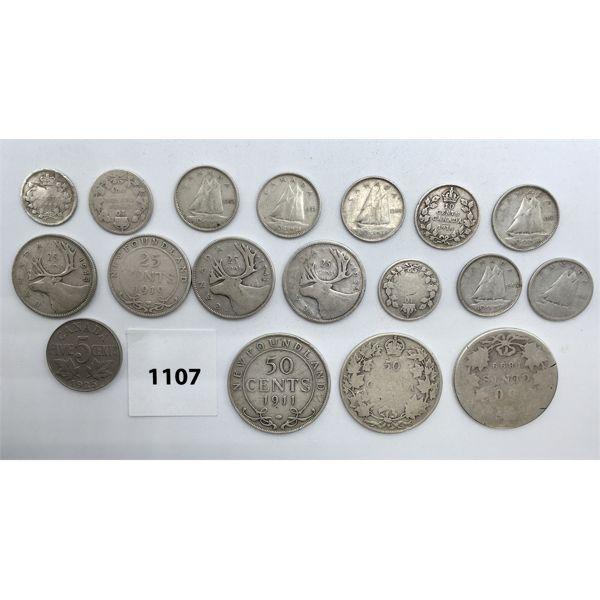 LOT OF 18 - CDN SILVER COINS