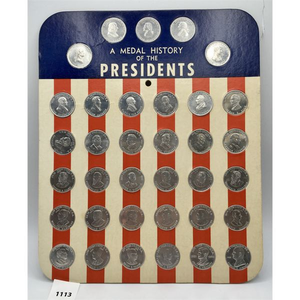 A MEDAL HISTORY OF US PRESIDENTS SET