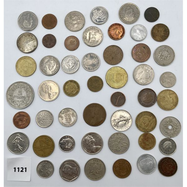 LOT OF 50 - WORLD COINS - VARIOUS YEARS