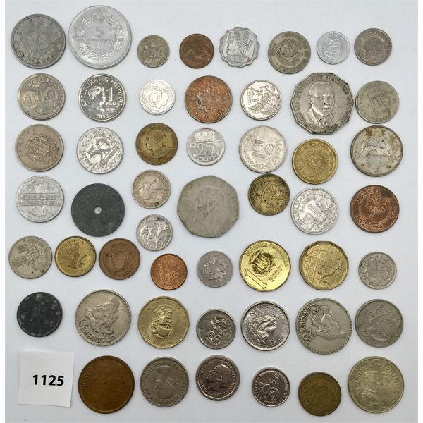 LOT OF 51 - WORLD COINS - VARIOUS YEARS