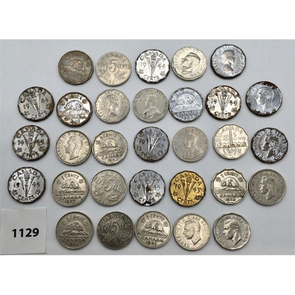 LOT OF 31 - CANADAIN NICKELS