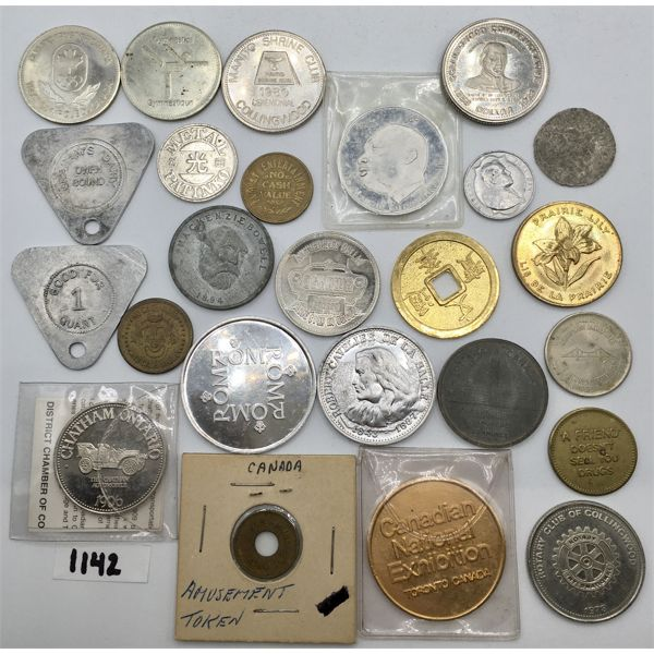 LOT OF 24 - MISC TOKENS
