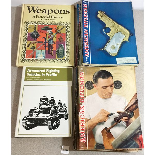 19X AMERICAN RIFLEMAN 1951 & 1954, ARMOURED FIGHTING VEHICLES, WEAPONS HISTORY