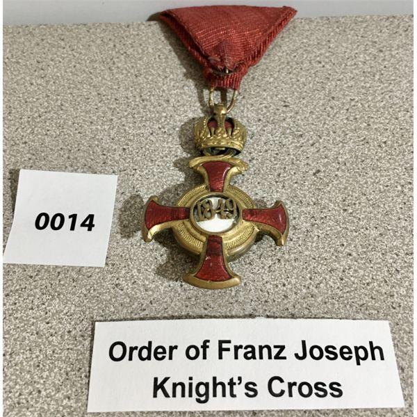 AUSTRIA-HUNGARY: ORDER OF FRANZ JOSEPH KNIGHT'S CROSS