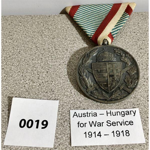 AUSTRIA-HUNGARY: WAR SERVICE MEDAL