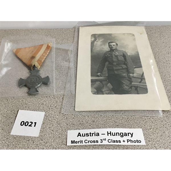 AUSTRIA-HUNGARY: MERIT CROSS 3RD CLASS