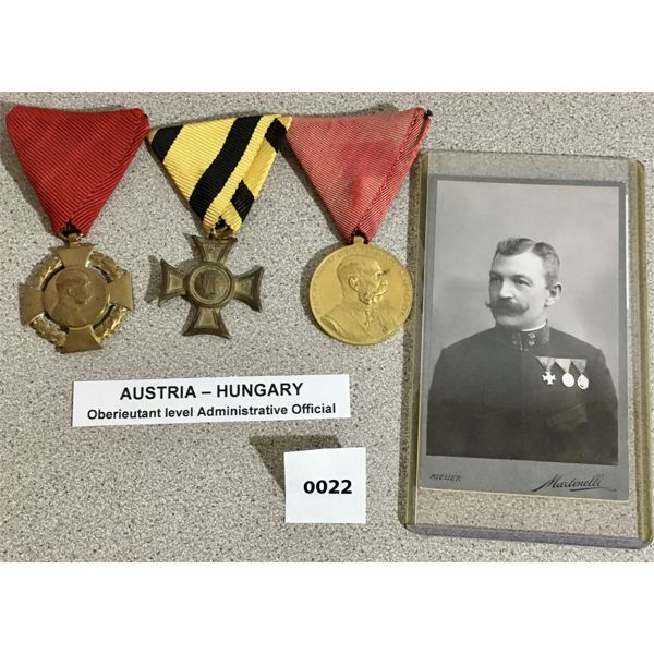 AUSTRIA-HUNGARY: NCO LONG SERVICE, MILITARY JUBILEE, CIVIL SERVICE JUBILEE
