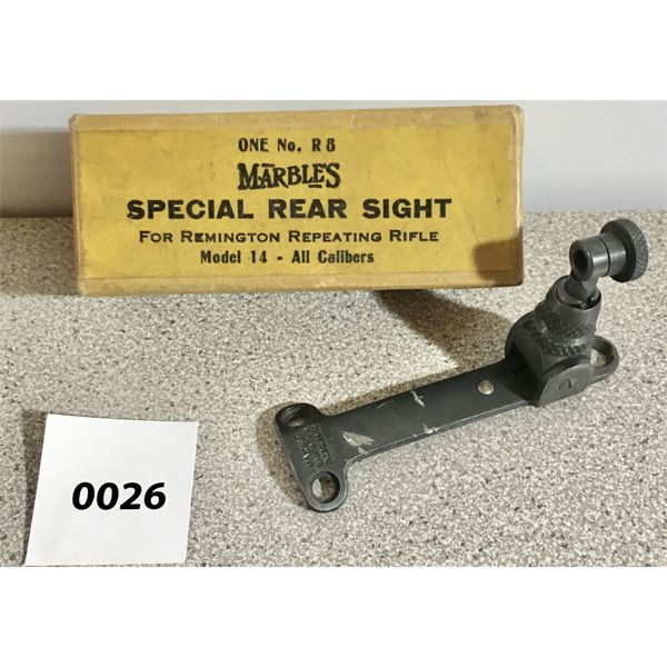 MARBLES NO. R 8 REAR SIGHT FOR REMINGTON MODEL 14
