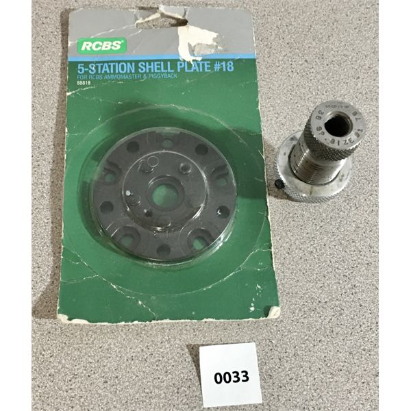 RCBS #18 SHELL PLATE (44 MAG/ SPL) & 38 SPL SIZING DIE