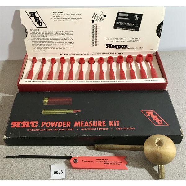 MRC POWDER MEASURE KIT, BULLET STARTER, BROWNING BOSS TOOL