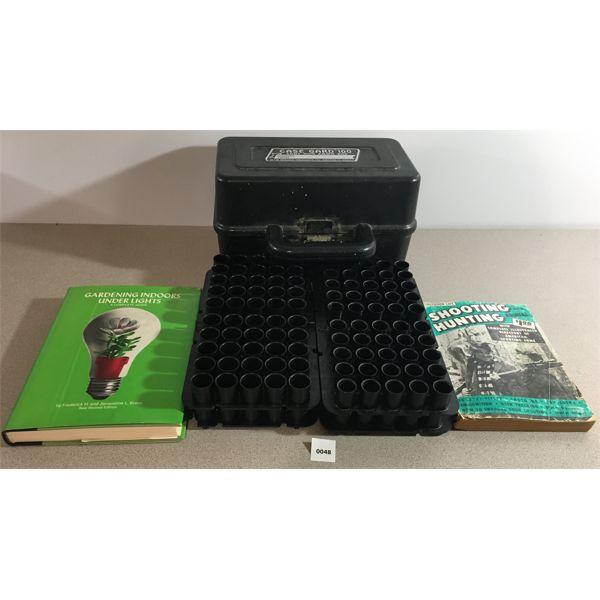 CASE GARD 100 W/ 12 GA & 20 GA INSERTS & 2X BOOKS