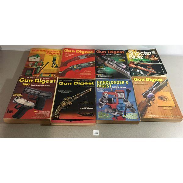 8X SHOOTING/ FIREARMS BOOKS