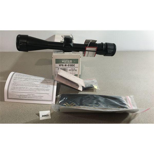 VORTEX VIPER 3-9 x 40 SCOPE - NEW IN BOX
