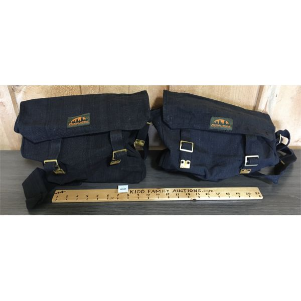 LOT OF 2 - BLACK WEB ACCESSORIES BAGS