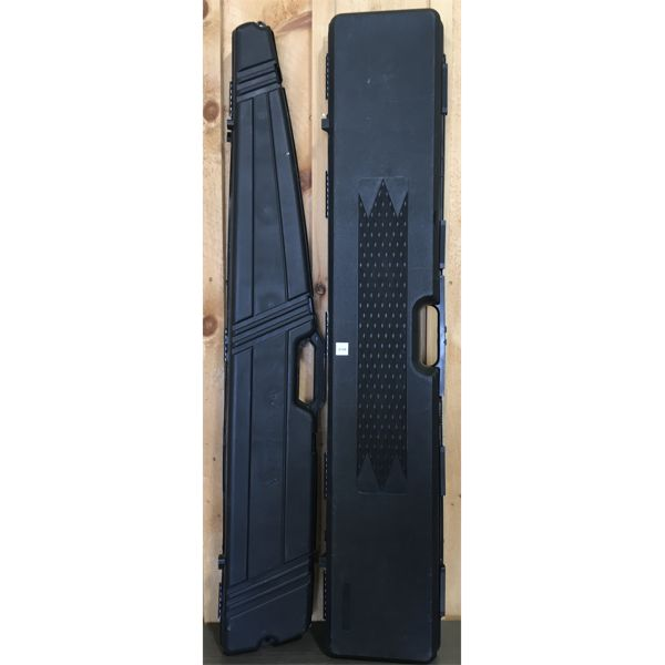 LOT OF 2 - HARD LONG GUN CASES - NO KEY