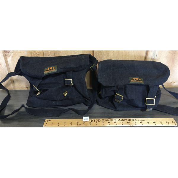 LOT OF 2 - BLACK WEB ACCESSORIES BAGS - NEW