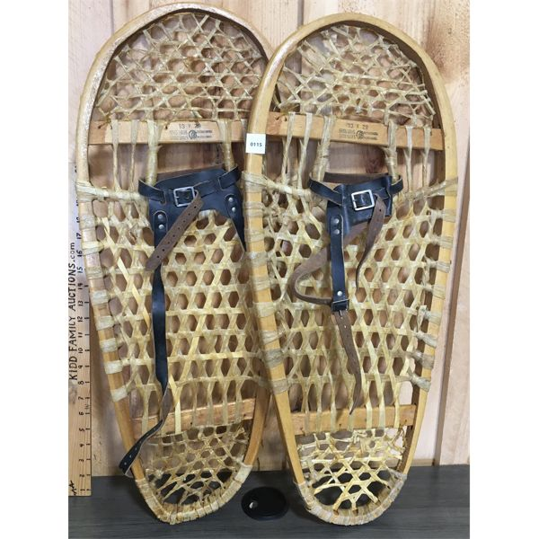 SET OF BEAR PAW SNOWSHOES - 13 X 29 INCHES