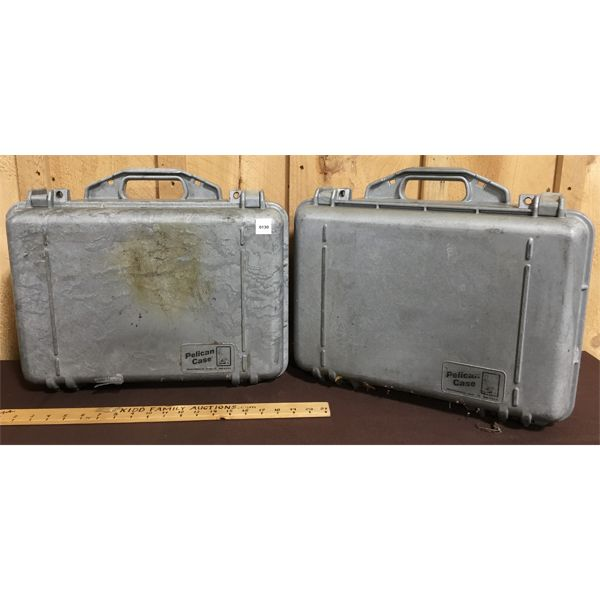 LOT OF 2 - PELICAN HARD CASES W/ FOAM INTERIORS