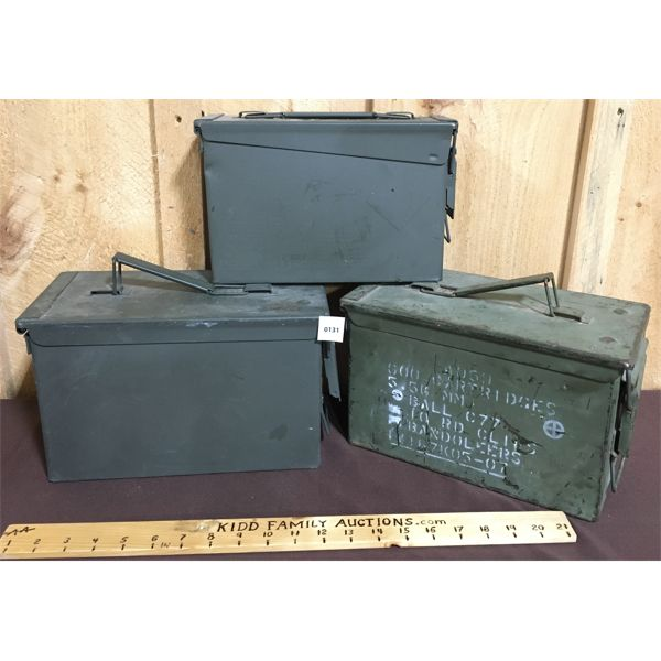 LOT OF 3 - AMMO CANS