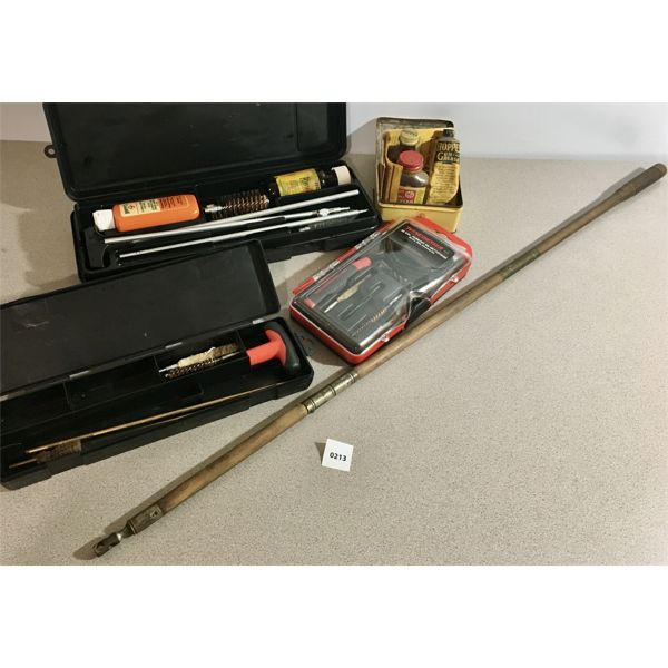 LOT OF MISC GUN CLEANING TOOLS
