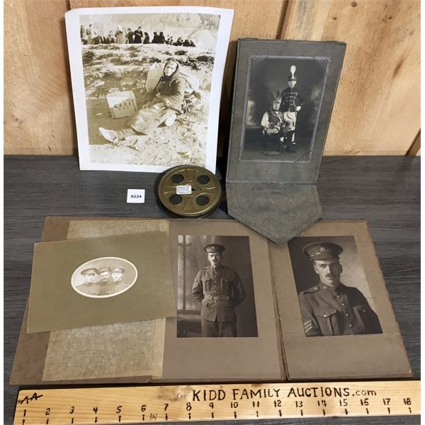 LOT OF 6 - 1930-40's MILITARY PHOTO & FILM REEL 'BOMBING OF PEARL HARBOUR'