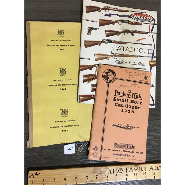 LOT OF 3 - FIREARMS PUBLICATIONS - 1938 PARKER HALE & NAAC0