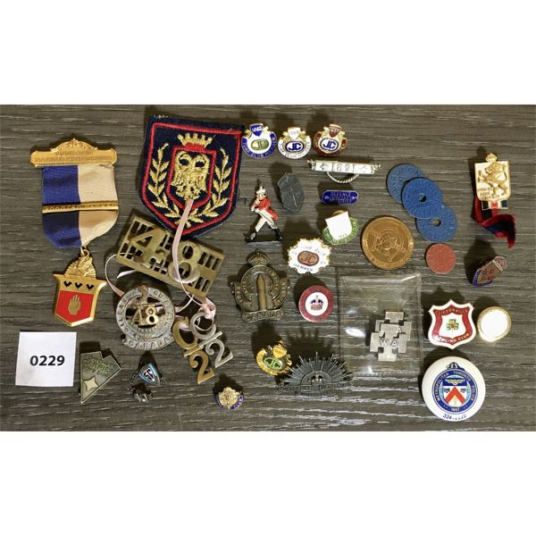 MISC MILITARY PINS, BADGES AND MEDALS