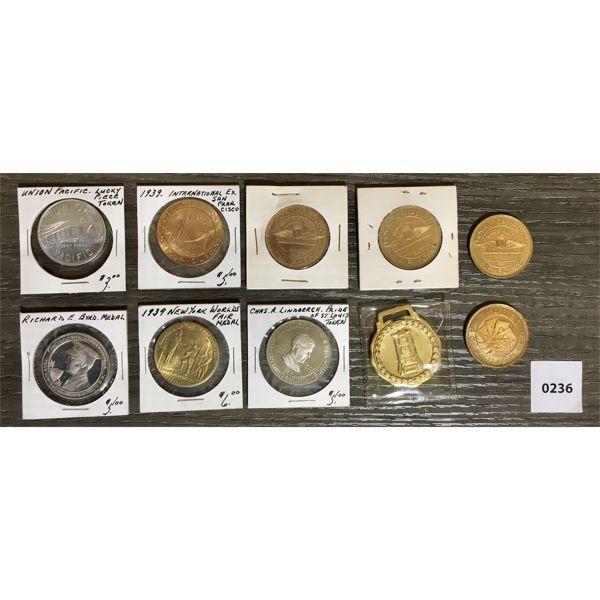 MISC MILITARY MEDALS AND TOKENS