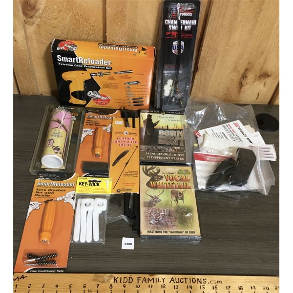 JOB LOT - SMART RELOADER & MISC RELOADING / CLEANING ACCESSORIES, ETC - MANY AS NEW