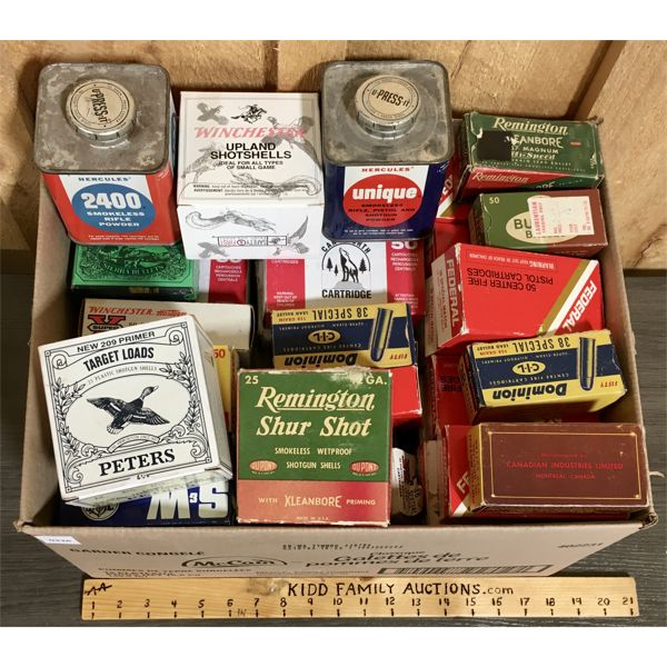 JOB LOT - EMPTY AMMO BOXES