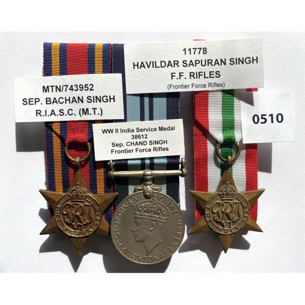 LOT OF 3 - BRITISH INDIA MEDALS - FRONTIER FORCE