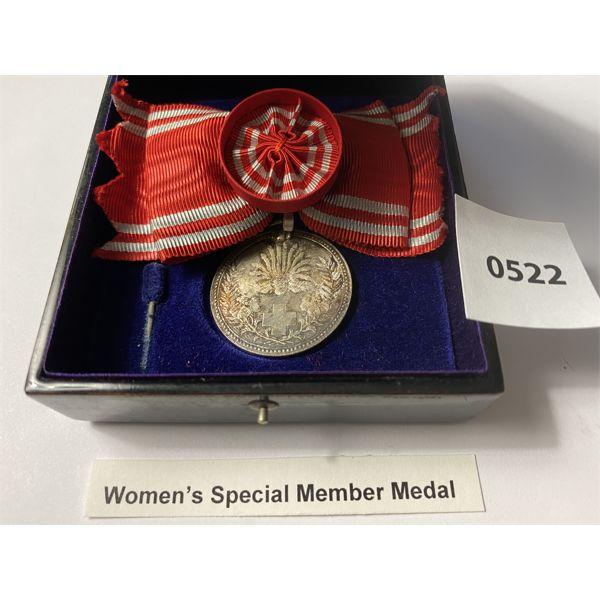 IMPERIAL JAPAN - WOMENS SPECIAL MEMBER MEDAL W/ PRESENTATION BOX