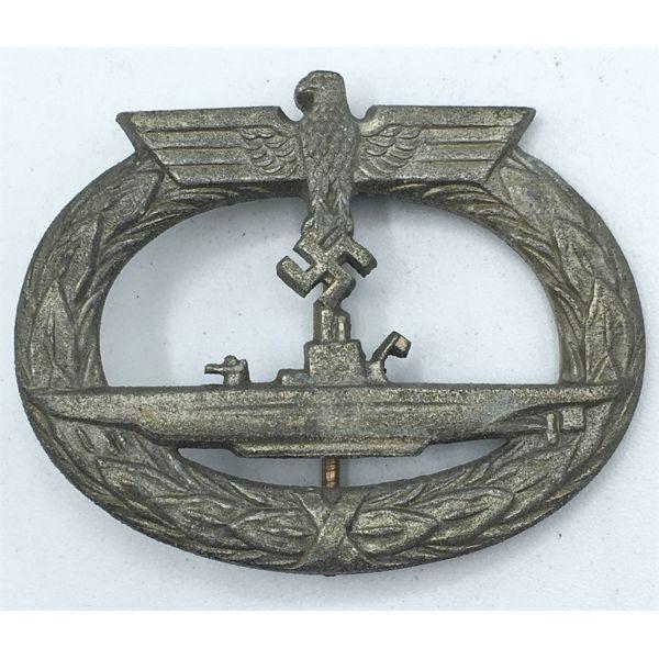 LOT OF 2 - WWII GERMAN U-BOAT BADGE AND BADGE CATALOG