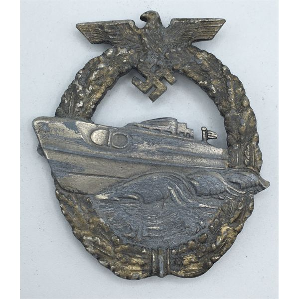 LOT OF 3 - WWII GERMAN S-BOAT WAR BADGE AND GERMAN PUBLICATIONS