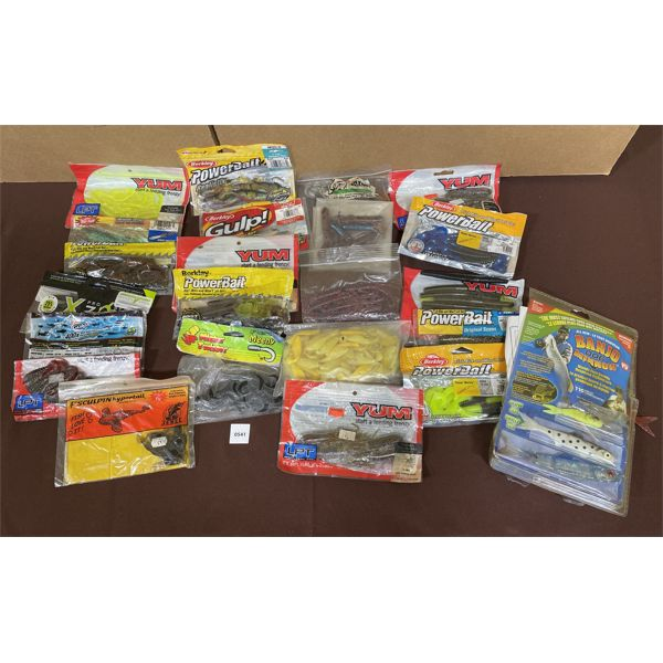 JOB LOT - MISC FISHING ACCESSORIES - BAIT - AS NEW
