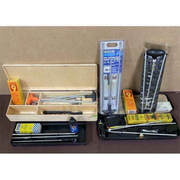 JOB LOT - MISC GUN CLEANING KIT PARTS - 30 CAL, .22 CAL